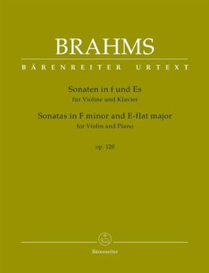 Johannes Brahms - Sonates op. 120 - Violon et piano - Partition - di-arezzo.fr
