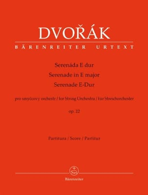DVORAK - Serenade in EI Shift, op. 22 - Driver - Sheet Music - di-arezzo.co.uk