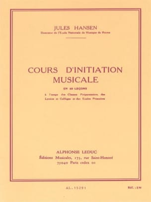 Jules Hansen - Music initiation course - Sheet Music - di-arezzo.com