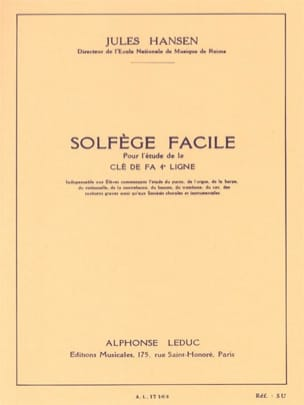 Jules Hansen - Easy Solfeggio Key of Fa - Sheet Music - di-arezzo.com