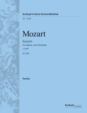 Concerto pour piano, KV 491 - Conducteur - MOZART - laflutedepan.com