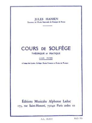 Jules Hansen - Theoretical and Practical Solfege - Medium - Sheet Music - di-arezzo.com
