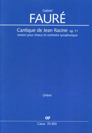 Gabriel Fauré - Song of Jean Racine, op. 11 - Driver - Sheet Music - di-arezzo.co.uk