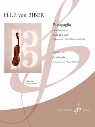 Heinrich Ignaz Franz Biber - Passagaglia - Alto only - Sheet Music - di-arezzo.com