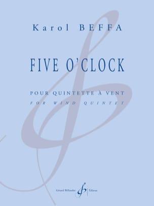 Five O'Clock - Quintette à vents - Karol Beffa - laflutedepan.com
