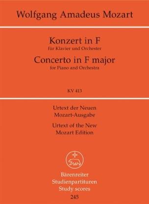 MOZART - Klavierkonzert F-Dur, Kv 413 - Sheet Music - di-arezzo.co.uk