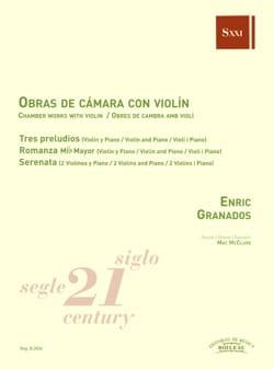 Musique de chambre avec violon - Enrique Granados - laflutedepan.com
