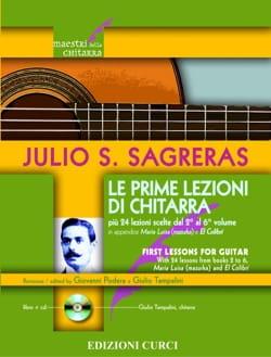 Julio Sagreras - Le prime Lezioni di Chitarra - Guitare - Partition - di-arezzo.fr