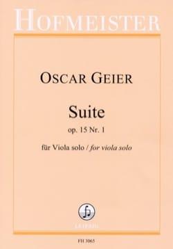 Oscar Geier - Suite, op. 15 n° 1 - Alto seul - Partition - di-arezzo.fr