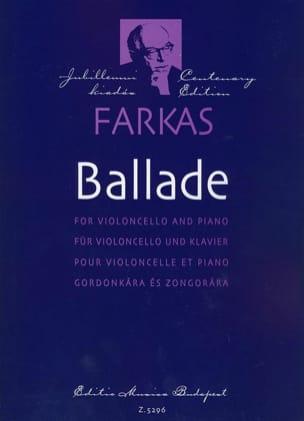 Ferenc Farkas - Ballade - Violoncelle and piano - Partition - di-arezzo.fr