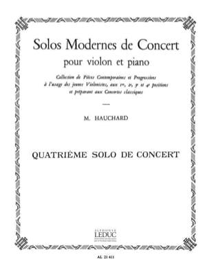 Maurice Hauchard - Concert Solo n ° 4 - Sheet Music - di-arezzo.com
