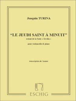 Joaquin Turina - Le Jeudi Saint à Minuit - Violoncelle piano - Partition - di-arezzo.fr