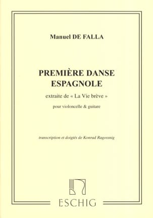 DE FALLA - First Spanish Dance - Cello and Guitar - Sheet Music - di-arezzo.co.uk