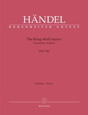 Georg Friedrich Haendel - The King shall rejoice, HWV 260 - Conducteur - Partition - di-arezzo.fr