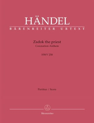 Zadok the Priest, HWV 258 - Conducteur HAENDEL Partition laflutedepan