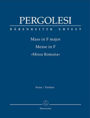 Messe en Fa Majeur - Conducteur - PERGOLESE - laflutedepan.com