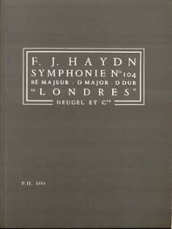 Symphonie N° 104 Londres - Conducteur HAYDN Partition laflutedepan