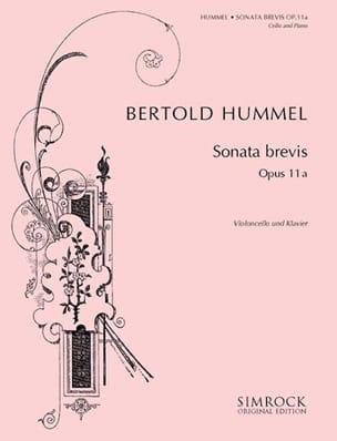 Bertold Hummel - Sonata Brevis - Partition - di-arezzo.fr