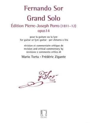 Fernando Sor - Grand Solo, opus 14 - Guitare - Partition - di-arezzo.fr