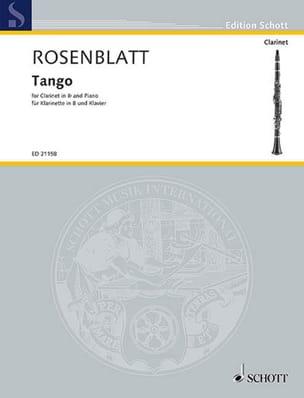 Tango - Clarinette et piano - Alexander Rosenblatt - laflutedepan.com