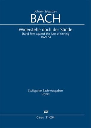 BACH - Cantate BWV 54 - Conducteur - Partition - di-arezzo.fr