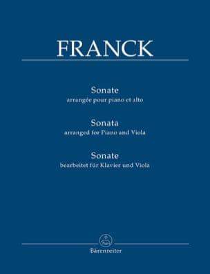 Sonate - Alto et piano César Franck Partition Alto - laflutedepan