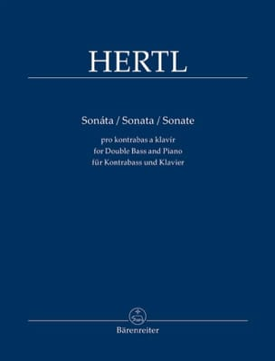 Frantisek Hertl - Sonate - Contrebasse et piano - Partition - di-arezzo.fr
