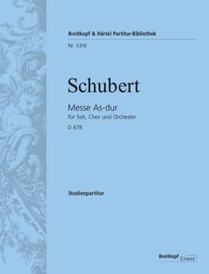 Messe en Lab Maj. D.678 - Conducteur - SCHUBERT - laflutedepan.com