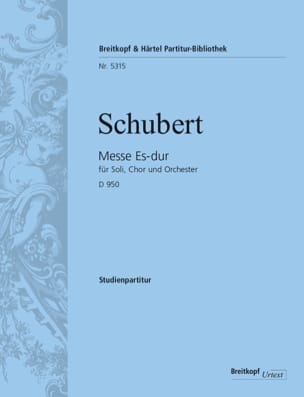 Messe en Mib Maj. D.950 - Conducteur - SCHUBERT - laflutedepan.com