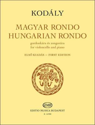 Rondo Hongrois - Violoncelle et piano KODALY Partition laflutedepan