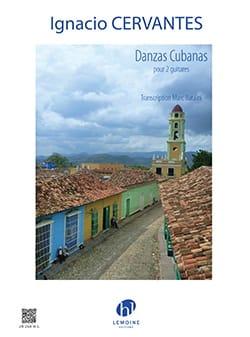 Danzas Cubanas - 2 Guitares Ignacio Cervantes Partition laflutedepan