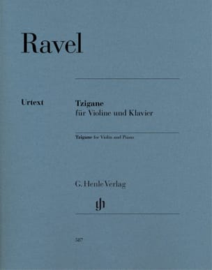 Maurice Ravel - Gypsy - Violin and piano - Sheet Music - di-arezzo.co.uk