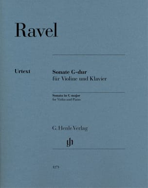 Maurice Ravel - Sonata in G Major - Violin and piano - Sheet Music - di-arezzo.com