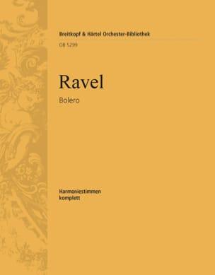 Boléro - Harmonie RAVEL Partition MATÉRIELS D'ORCHESTRE - laflutedepan