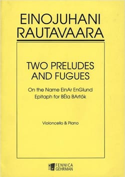 Einojuhani Rautavaara - Two Preludes and Fugues - Partition - di-arezzo.fr