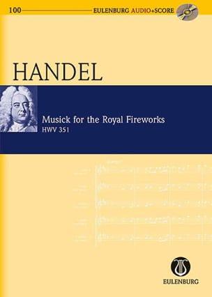 Georg Friedrich Haendel - Musique pour les Feux d'Artifice Royaux - Conducteur + CD - Partition - di-arezzo.fr