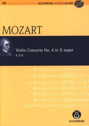 Wolfgang Amadeus Mozart - Concerto pour Violon N° 4, Kv 218 - Conducteur + CD - Partition - di-arezzo.fr