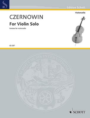 Chaya Czernowin - For violin Solo - cello version - Sheet Music - di-arezzo.com