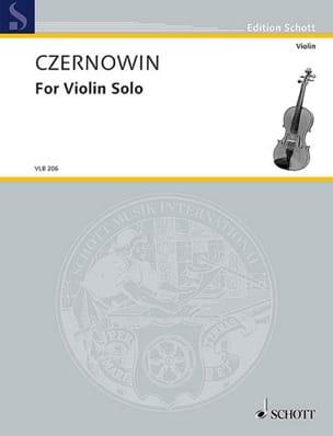 Chaya Czernowin - For Violon Solo - violon - Partition - di-arezzo.fr