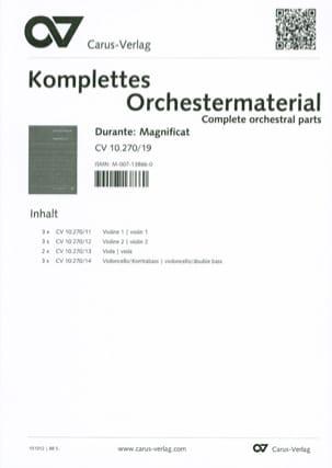 Francesco Durante - Magnificat in B flat - Sheet Music - di-arezzo.co.uk
