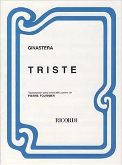 Alberto Ginastera - Triste - Partition - di-arezzo.fr