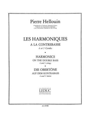 Pierre Hellouin - Harmoniques à la contrebasse - Partition - di-arezzo.fr