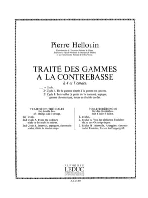 Pierre Hellouin - Treatise on Ranges, Cycle 1 - Double Bass - Sheet Music - di-arezzo.co.uk