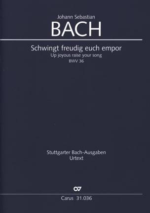 BACH - Schwingt freudig euch empor, BWV 36 - Conducteur - Partition - di-arezzo.fr