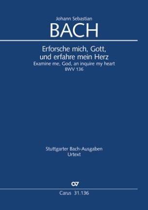 Erforsche mich, Gott.., BWV 136 - Conducteur - laflutedepan.com