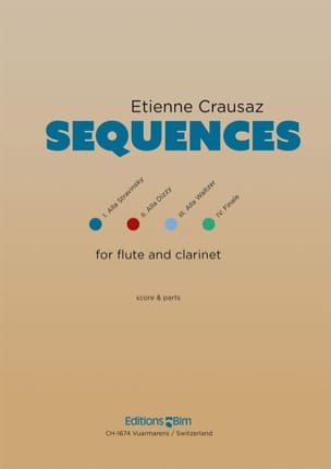 Etienne Crausaz - Sequences - Flute and Clarinet - Sheet Music - di-arezzo.co.uk