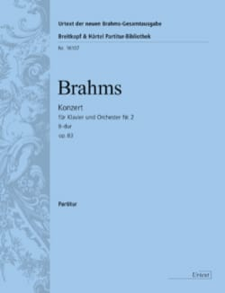 Concerto pour piano n° 2 - Conducteur BRAHMS Partition laflutedepan