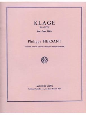 Philippe Hersant - Klage Plainte - Partition - di-arezzo.fr