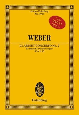 Carl Maria von Weber - Concerto pour clarinette n° 2 - Conducteur - Partition - di-arezzo.fr