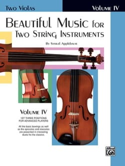 Samuel Applebaum - Beautiful Music for two string instruments - Volume 4 - Partition - di-arezzo.fr